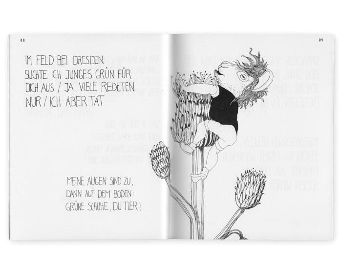 Felder hinter Wälder hinter Städten Iayout und Illustration von Inga Israel ingaisrael.de Text Roman Israel
