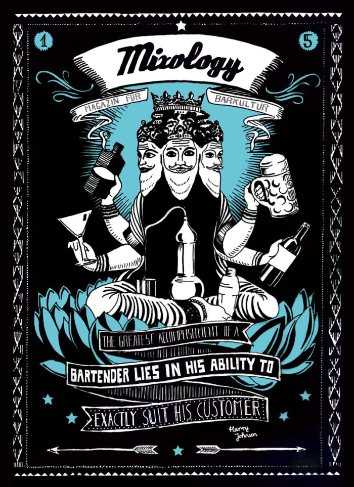 mixology – magazin für barkultur plakatgestaltung von Inga Israel ingaisrael.de