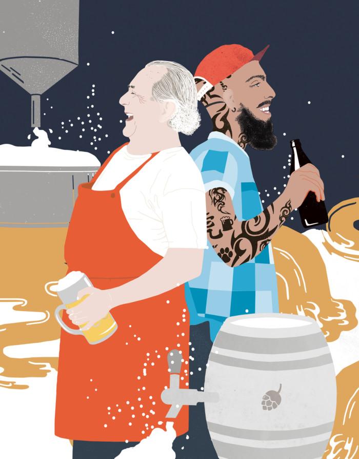 Inga Israel ingaisrael.de Illustration Mixology Magazin für Barkultur Rubrik Bier  mixology.eu