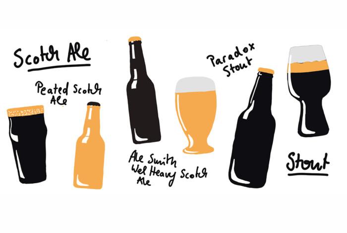 Inga Israel ingaisrael.de Illustration Mixology Magazin für Barkultur Rubrik Trinkwelt Scotch Ale mixology.eu