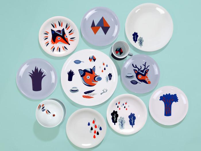 Der Zauberwald Porzellan Kollektion von Inga Israel ingaisrael.de in Zusammenarbeit mit Kahla Porzellan