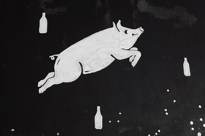 Twinpigs Bar Berlin Neukölln Wandgestaltung von Inga Israel ingaisrael.de Berliner Illustrator Berliner Illustratorin Wandillustration Berlin Mural Berlin Inga Israel Illustration