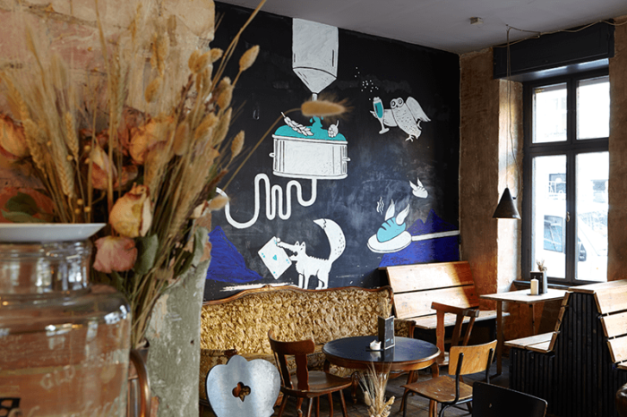 Twinpigs Bar Berlin Neukölln Wandgestaltung von Inga Israel ingaisrael.de