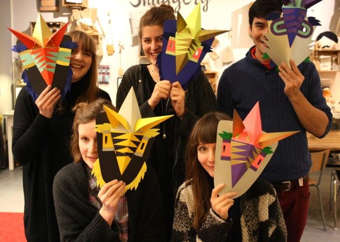 Inga Israel Maskenworkshop im Dawanda Snuggery Store in Charlottenburg mit Anleitung von Inga Israel