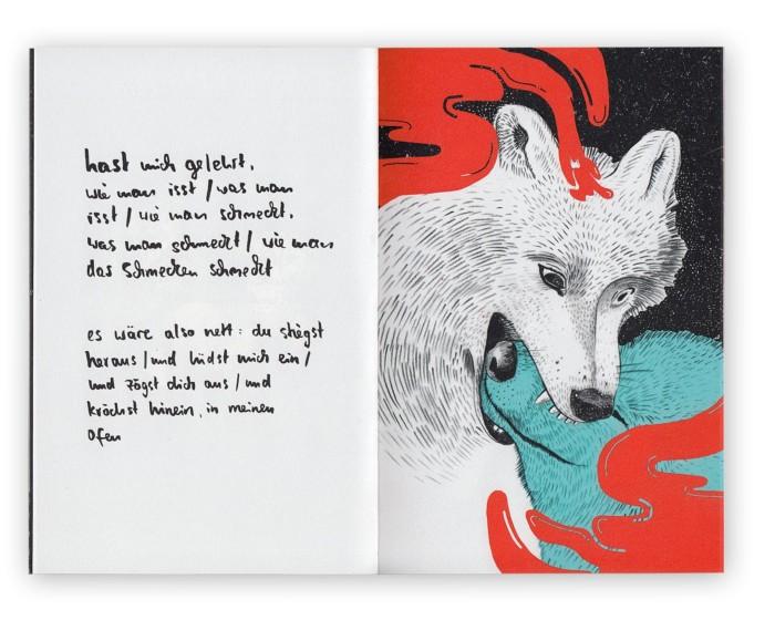 Illustrationsbuch »Paradies« von Inga Israel (ingaisrael.de) handgebunden mit Gedichten von Roman Israel