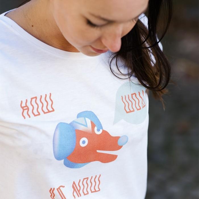 how wow is now illustration von Inga Israel t-shirt yoga nikkifaktur ingaisrael.de