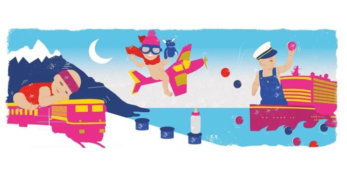Frankfurter Allgemeine Sonntagszeitung Reisen mit Kind Illustration Inga Israel ingaisrael.de
