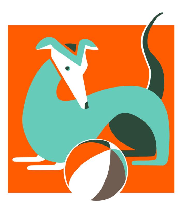 Jahr des Hundes Inga Israel Illustration Hund 2018 ingaisrael.de