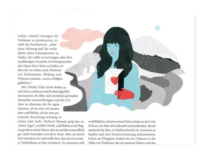 PsychologieHeute 8/2018 Berliner Illustrator Berliner Illustratorin Illustration Editorial Illustration Inga Israel ingaisrael.de Alles zu meiner Zeit Timing das richtige Timing Titelillustration