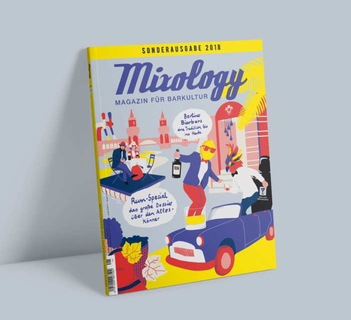 Berliner Illustratorin Illustrator Berlin Mixology Sonderausgabe 2018 Coverillustration Inga Israel ingaisrael.de Rum Mixology Bar Awards Bar Convent Berlin BierbarsBerlin Berliner Bierbars Rumspecial Trinkwelt Berlin